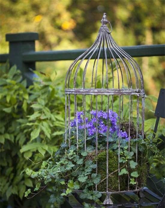 Birdcage With Flowers | How To Create A Birdcage Flower Garden