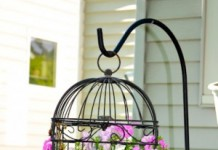 diy birdcage planter