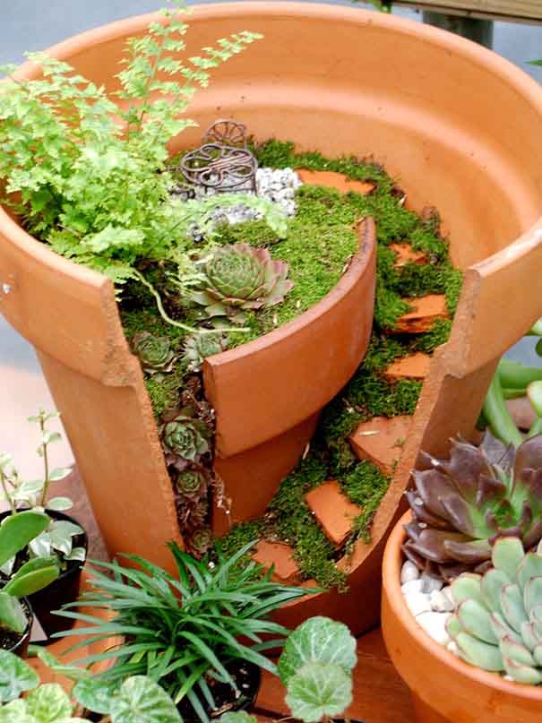recycle garden pot