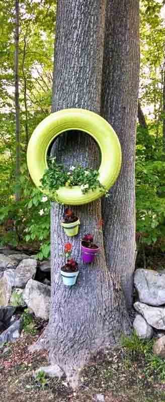 making tire planters