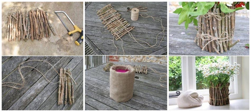 Twig DIY pot