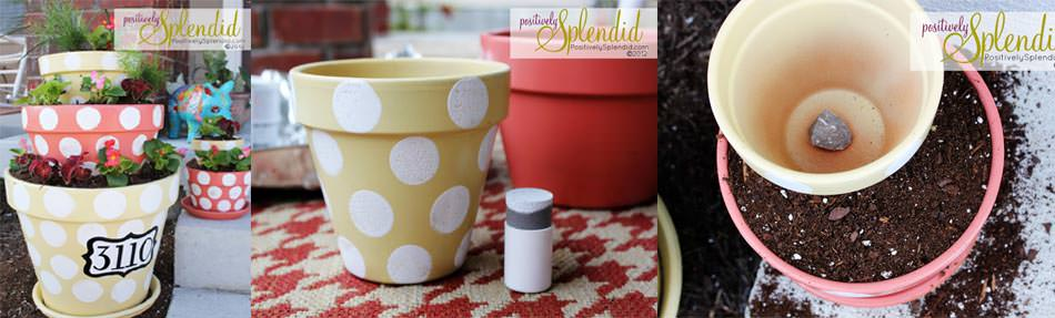 Dotted pot diy