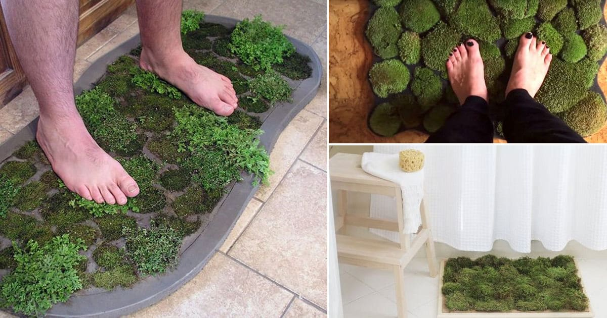 8 Diy Moss Bath Mat Ideas How To Make Moss Bath Mat
