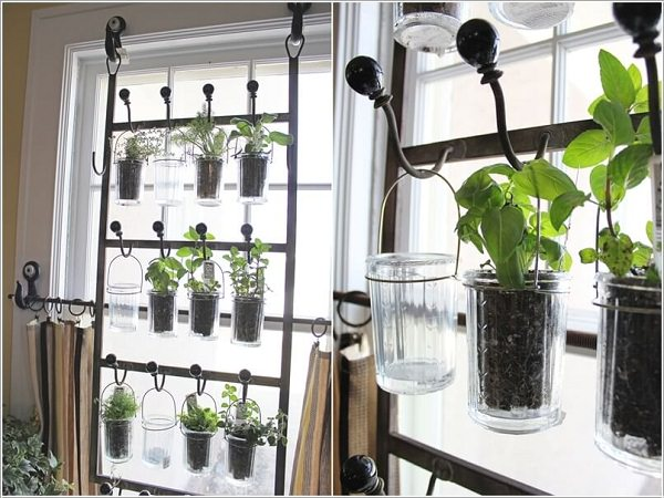 Create A Hanging Herb Garden On Each Window With Hooks Drinking Gleetal Wire