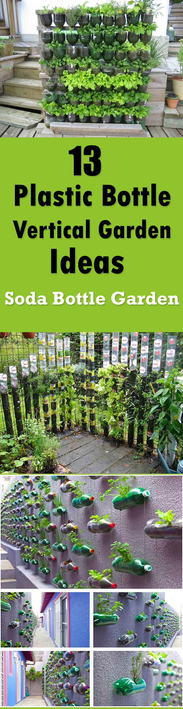 13 Plastic Bottle Vertical Garden Ideas | Soda Bottle Garden ...
