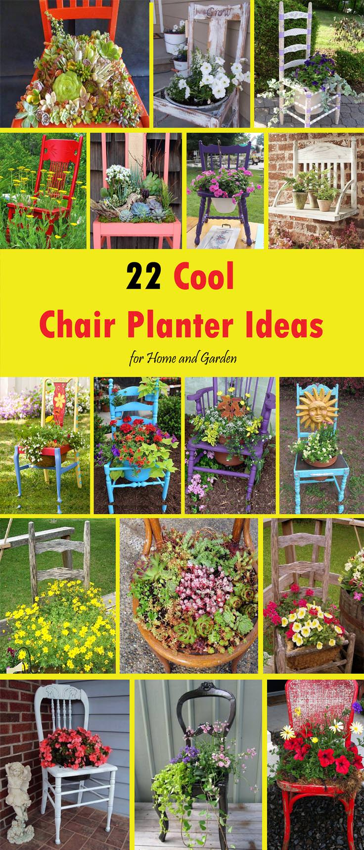 22 Cool Chair planter ideas pin1