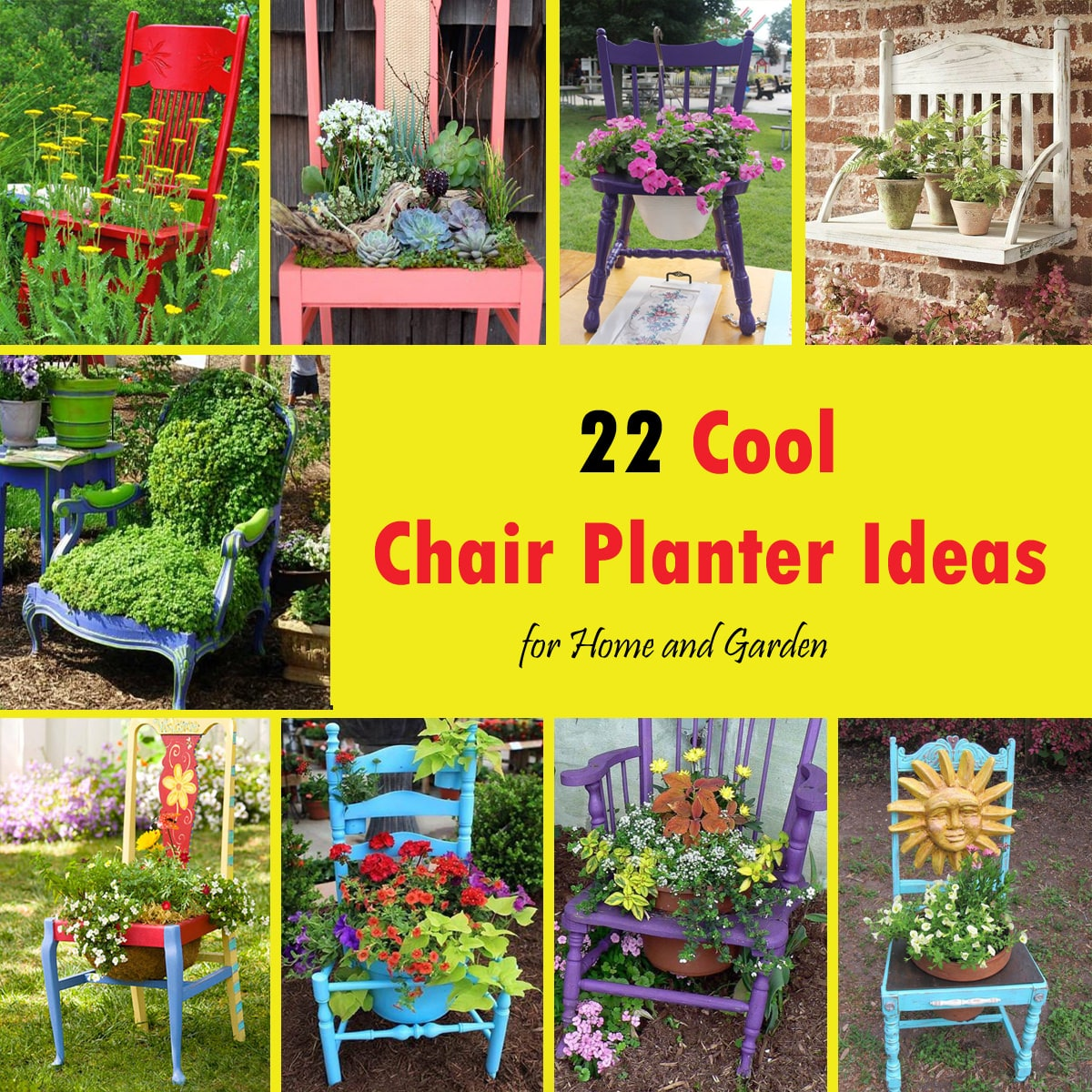 22 Cool Chair planter ideas for Home and Garden | Balcony Garden Web