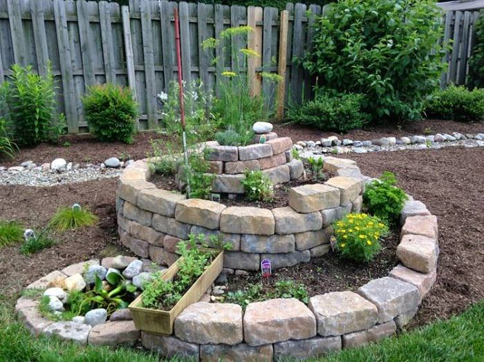 How To Build A Spiral Herb Garden 1