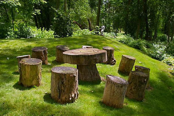 Modern-Tree-Trunks garden furniture
