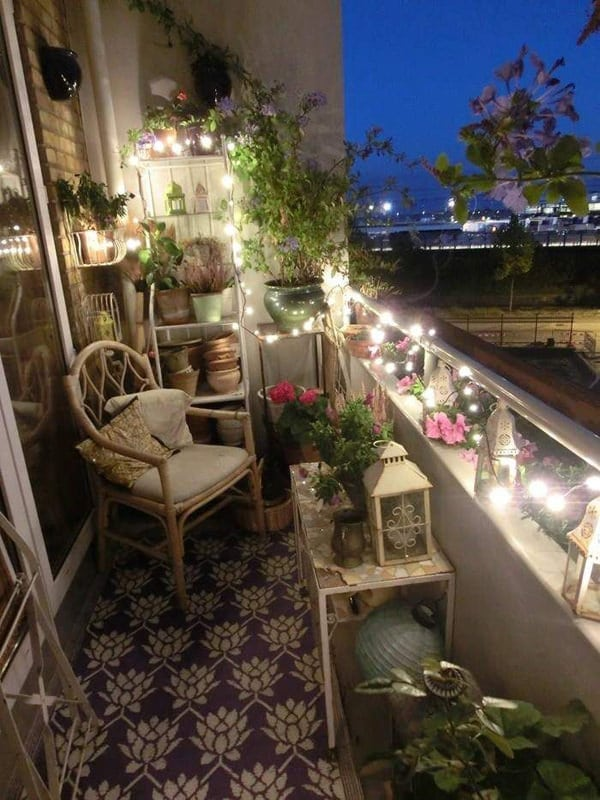 Small Balcony Lighting Designs