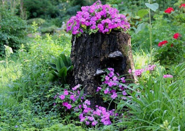 tree stump garden ideas (6)