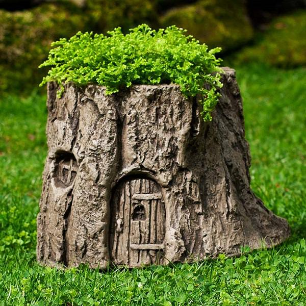 tree stump planter ideas (5)