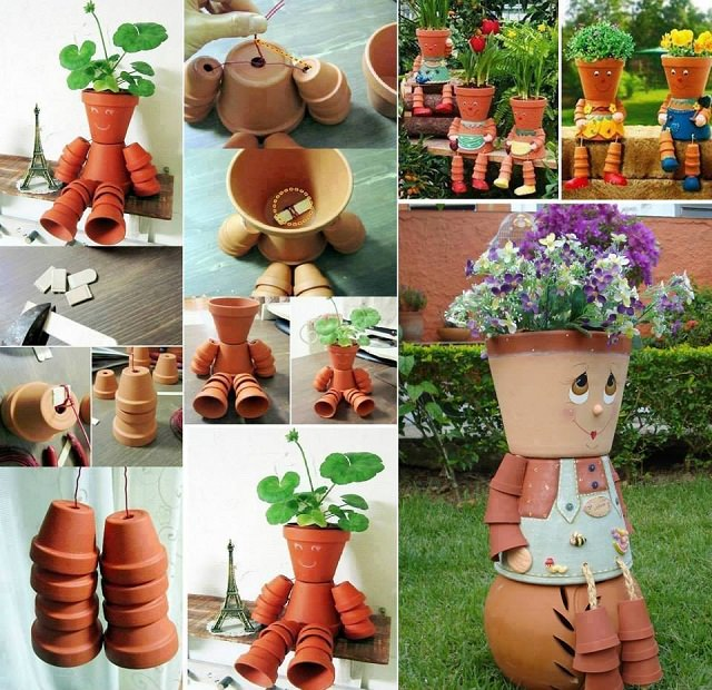 clay pot planter people