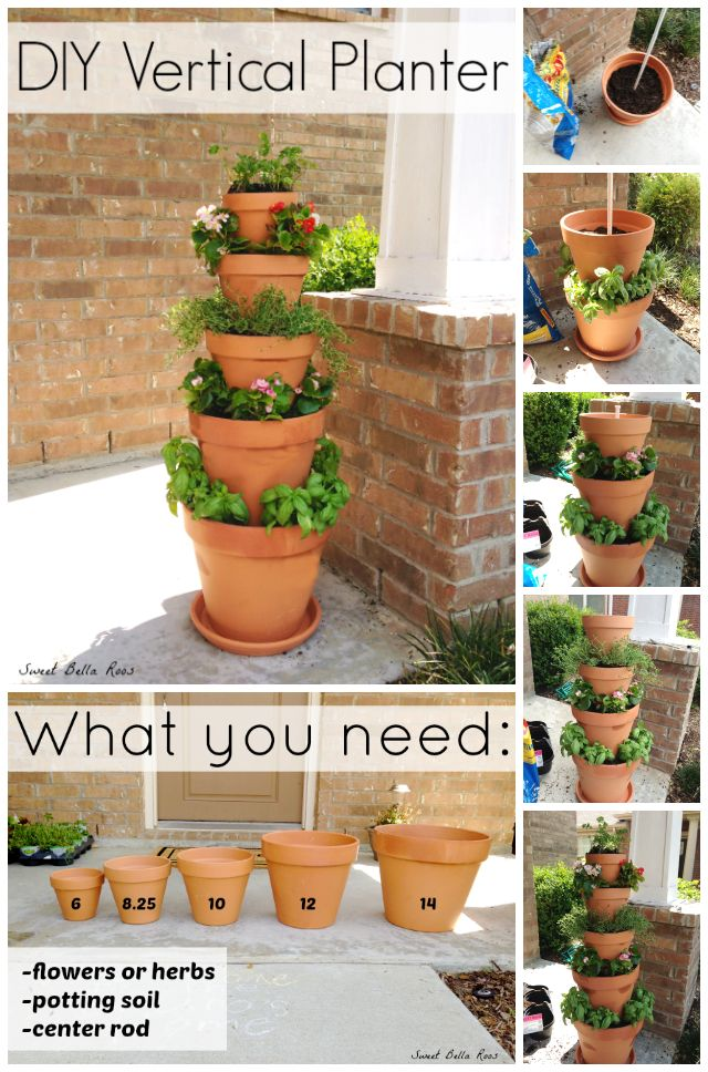 diy vertical herb planter