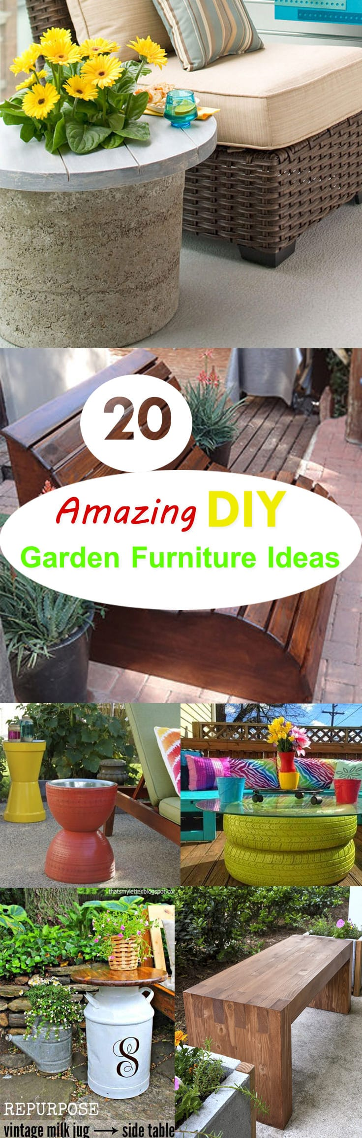 If you are good at doing DIY stuff you don't need to spend a lot of money to have awesome furniture for your outdoor space. Check out these 20 DIY garden furniture ideas for inspiration.