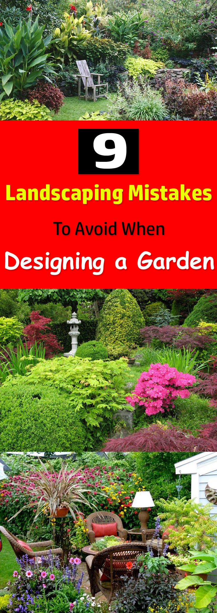 If having a beautiful garden is your biggest dream then avoid doing these 9 landscaping mistakes when designing a garden.