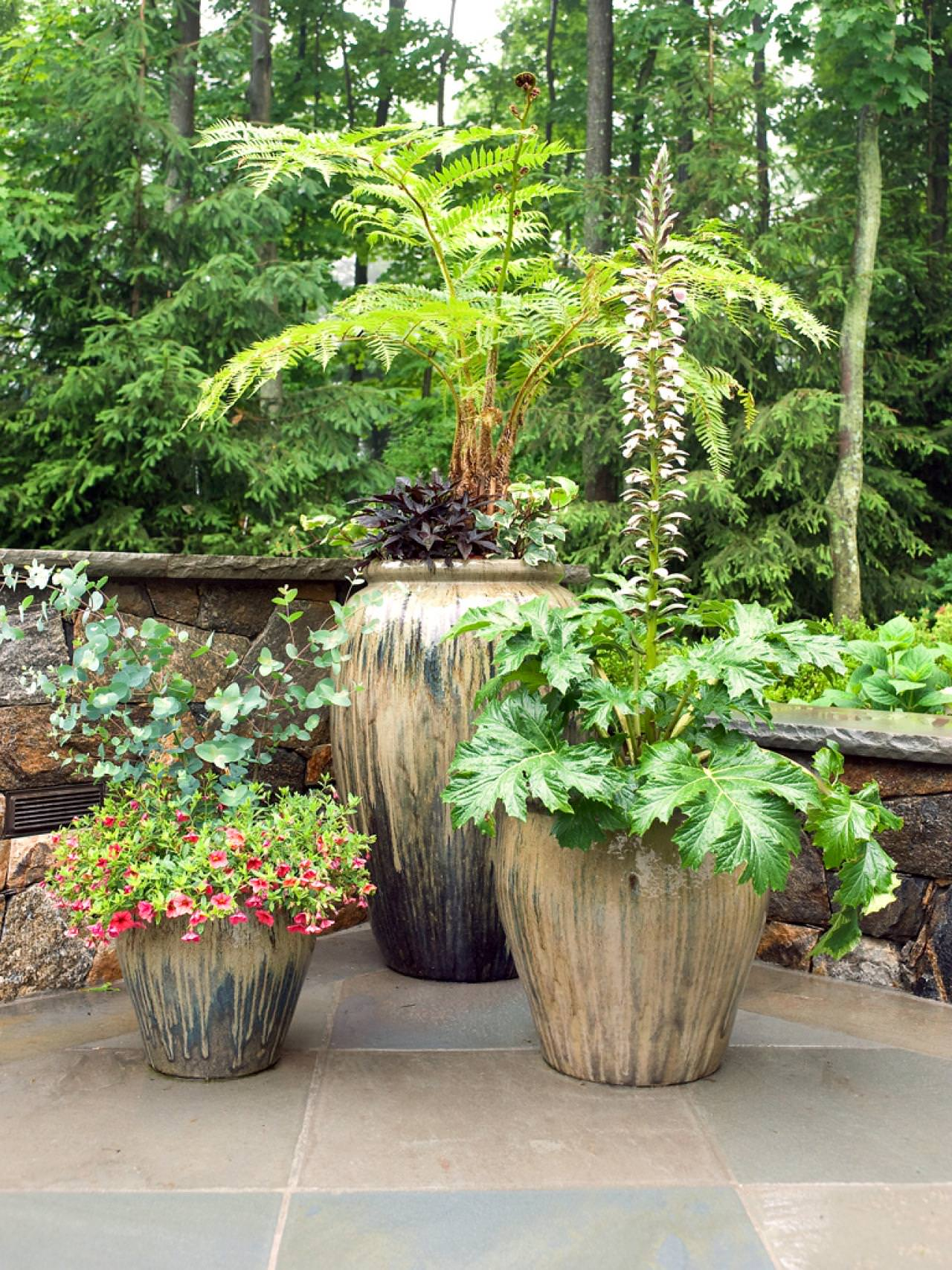 Outdoor Flower Planter Ideas Plant Several In A Large Container