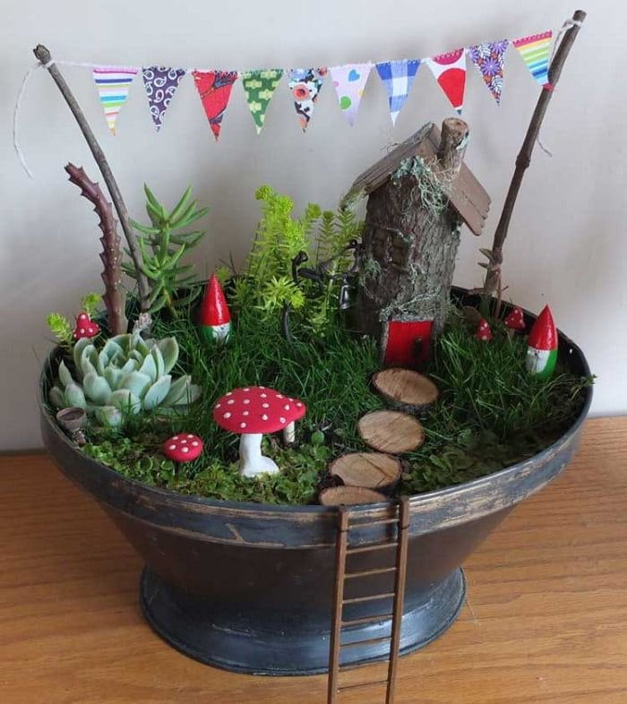 Gnome village fairy garden