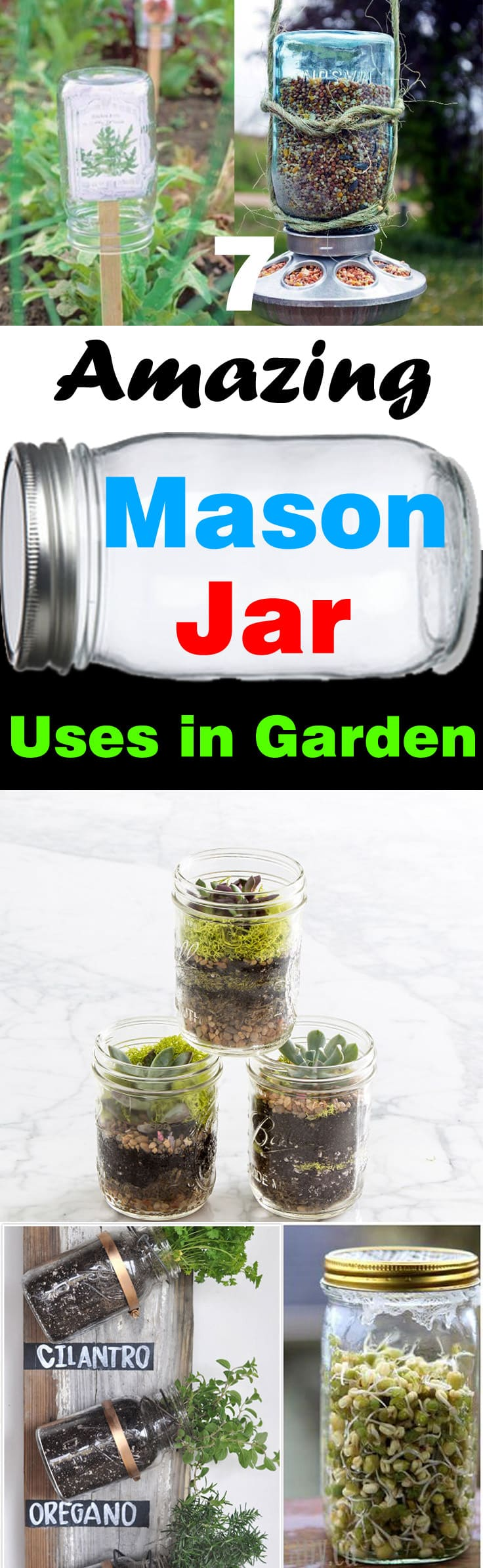 Have a collection of unused mason jars? Don't throw them! Here're 7 DIY Mason jar uses in garden you can look at for inspiration.