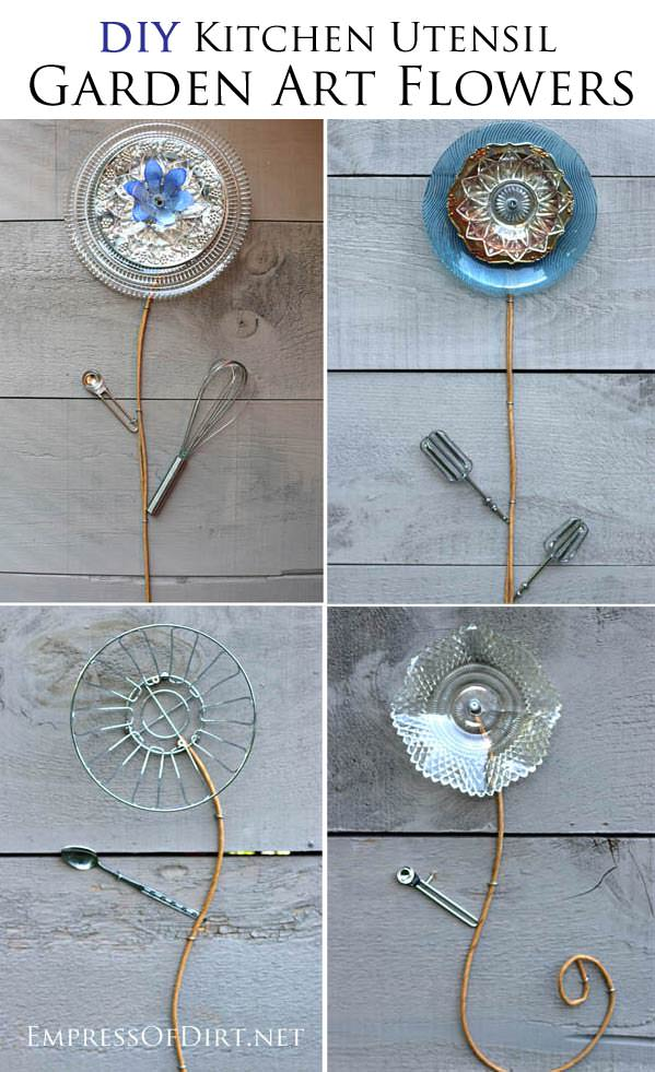 19 Best DIY Garden Ideas Using Kitchen Items & Utensils | Balcony ...