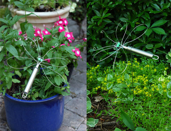 Dragonfly Garden Decor using a Wire Whisk