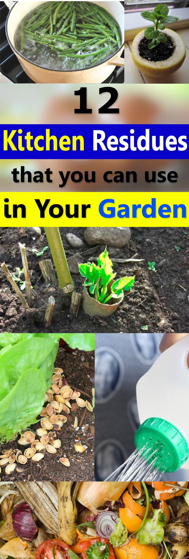 Do you know that a lot of waste stuff and kitchen residues that you usually throw away can be used in the garden? Find out more!