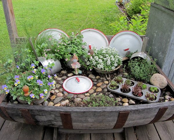 kitchen fairy garden
