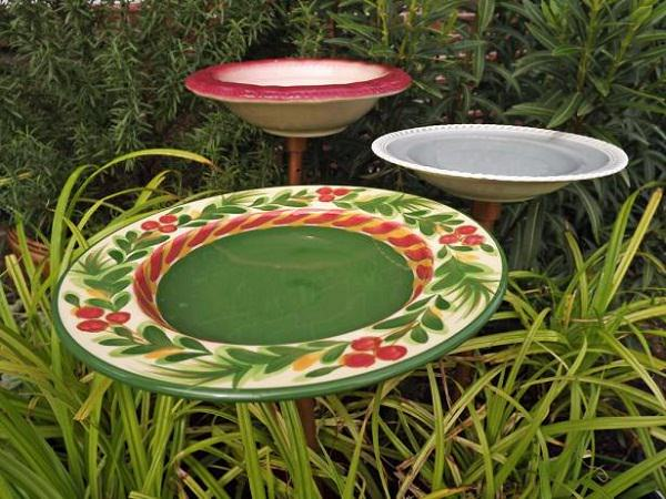 Colorful Birdbath