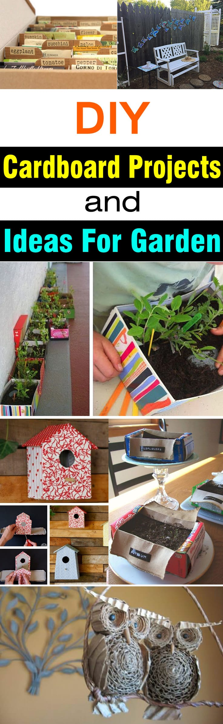 If you love to recycle and have cardboards-- don't throw them, use them in your garden. Check out these DIY cardboard projects and ideas for the garden.