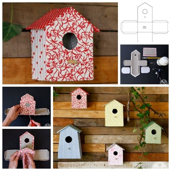 carboard-bird-house