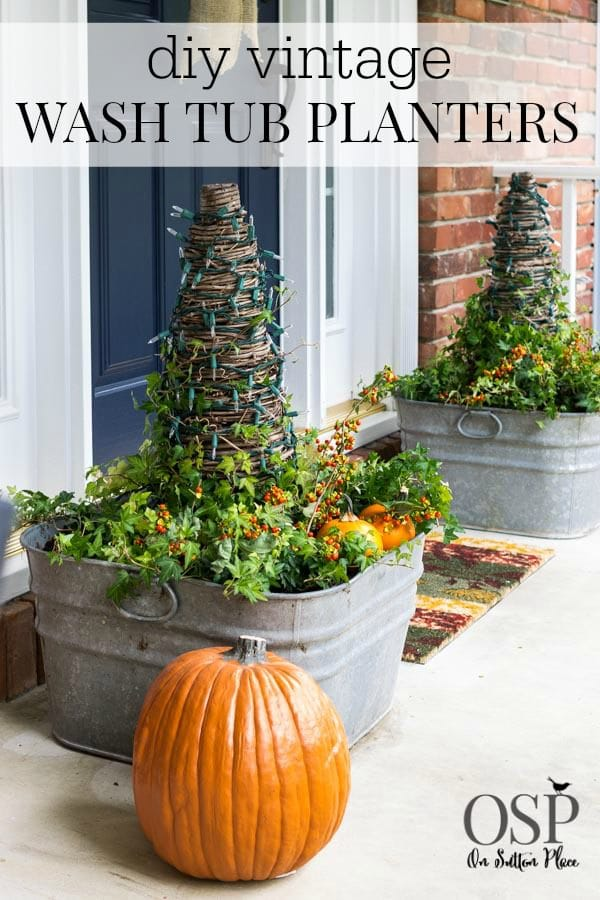 vintage-galvanized-wash-tub-planters-fall
