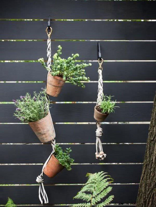 Hanging Terracotta Planters