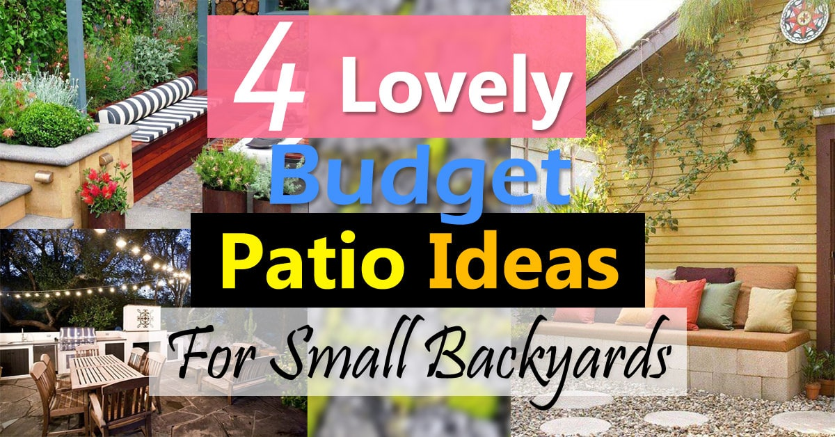 4 Lovely Budget Patio Ideas For Small Backyards | Balcony ... on Stone Patio Ideas On A Budget id=80323