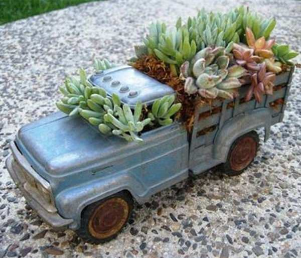 toy truck indoor garden