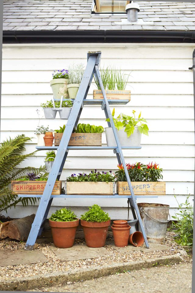 diy-ladder-planter