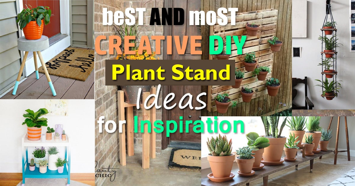 Best And Most Creative Diy Plant Stand Ideas For Inspiration Balcony Garden Web