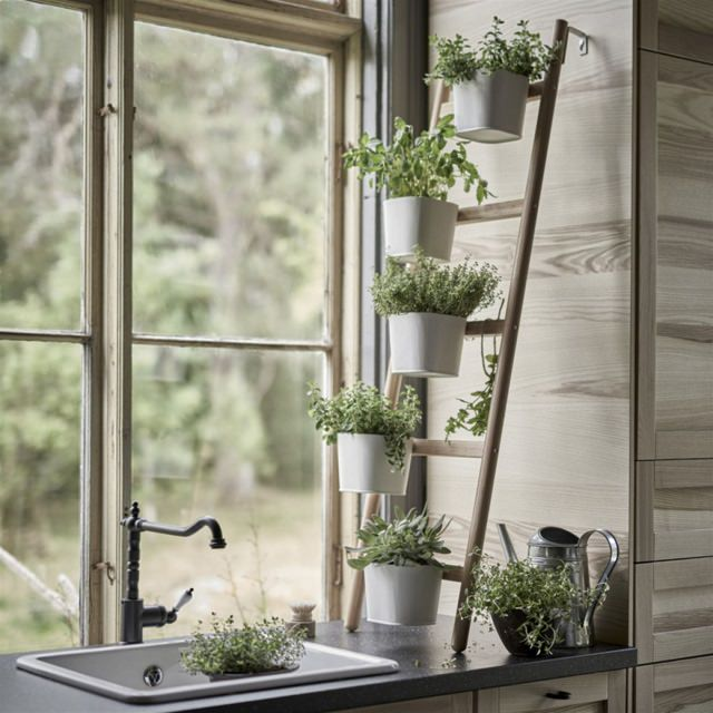 ikea-plant-stand-near-windows