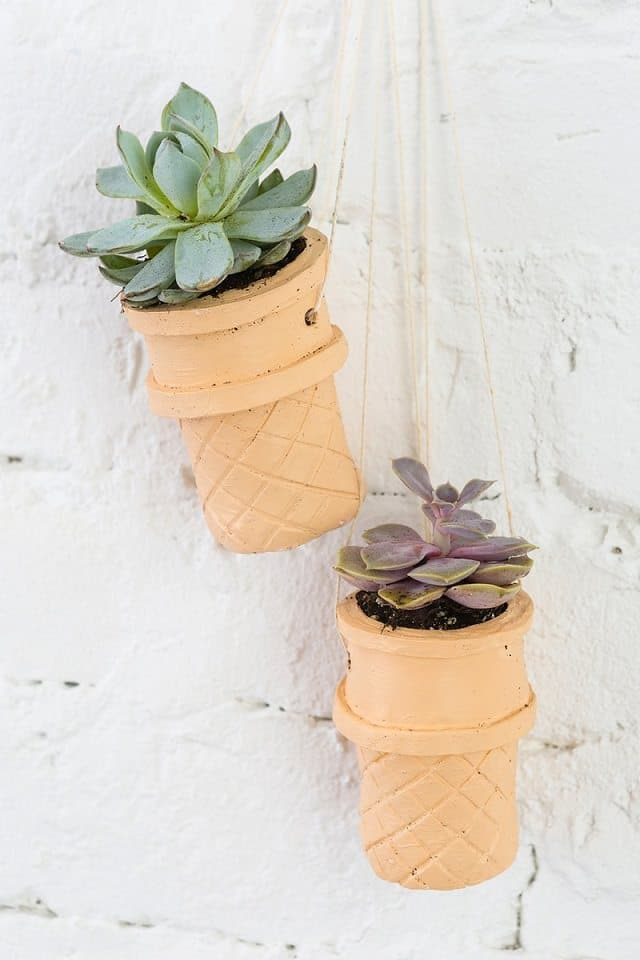 Ice Cream cone hanging Planters