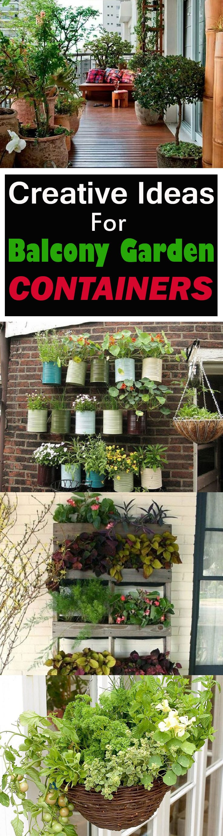 If you have a balcony garden, it doesn't mean you can't be creative and do something unusual-- Here're some ideas to inspire you!