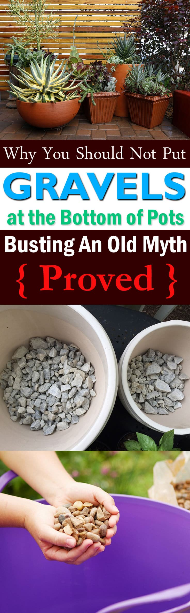 After reading this post you'll never put gravel or other coarse materials at the bottom of pots. Must find out, WHY?