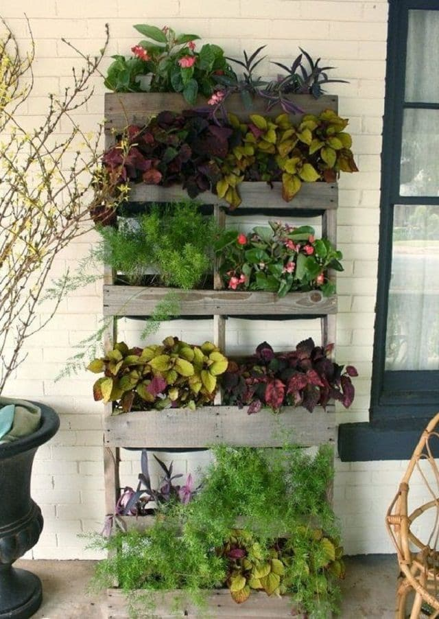plant stand out pallets