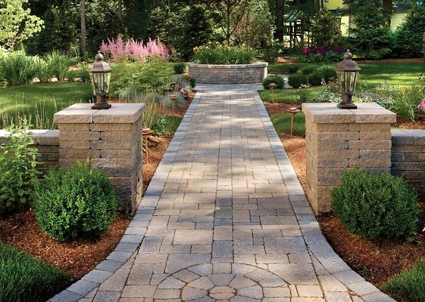 Another Cool Diy Garden Path Idea Is To Make Use Of Pavers These Are Usually Cut Stone In The Shape Rectangular Bricks And Lined Up Placed Ly