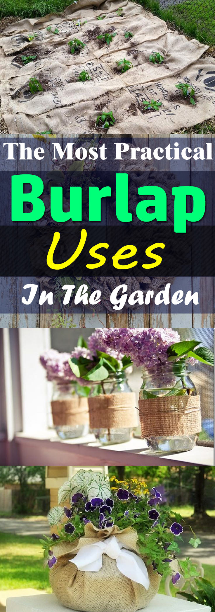 From the most practical burlap uses to the DIY and crafts for home and garden, the inexpensive burlap can be really useful. Check out!