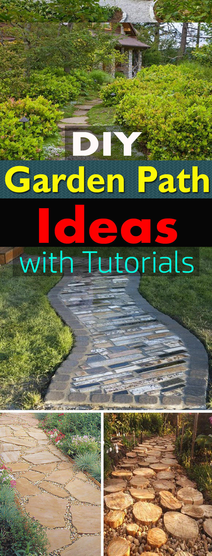 19 DIY Garden Path Ideas With Tutorials | Balcony Garden Web