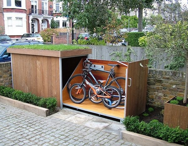 bike storage shack
