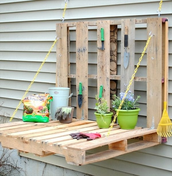 Storing Gardening Tools Such As Fowls Chainsaws And Shovels Need A Little Organization Old Pallets Can Be Repurposed In Numerous Ways One Of The