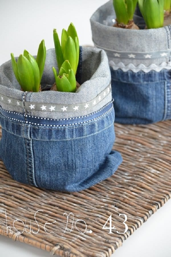 Jeans Uses in the garden