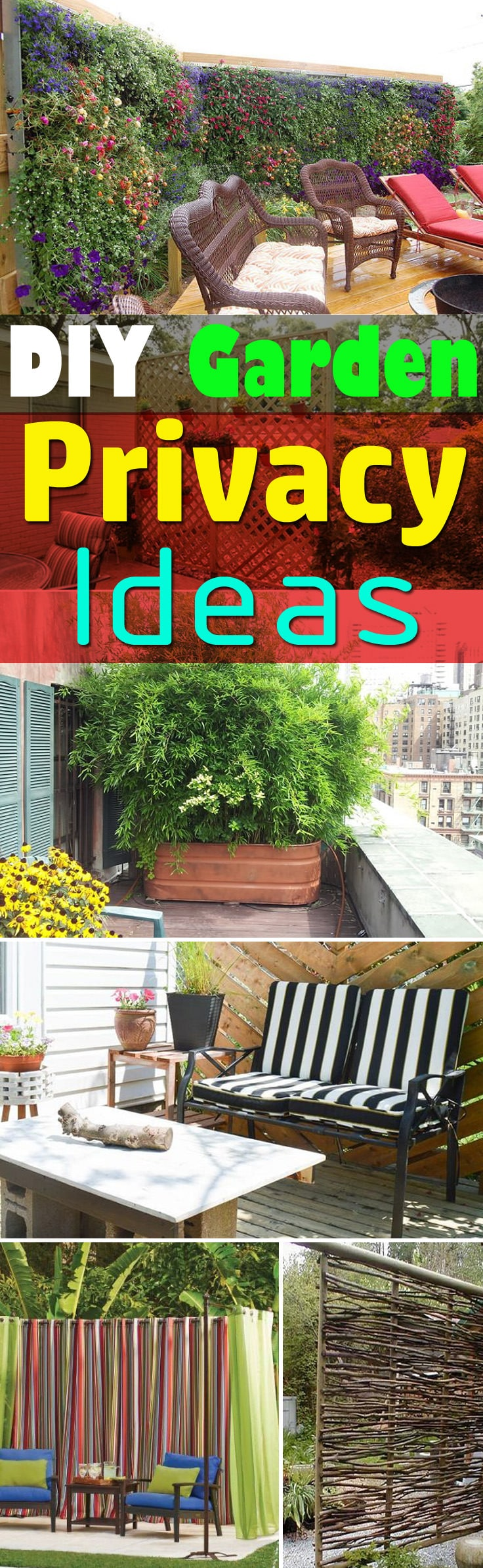 If you need privacy in your garden, the 26 DIY Garden Privacy Ideas here are worth looking at!