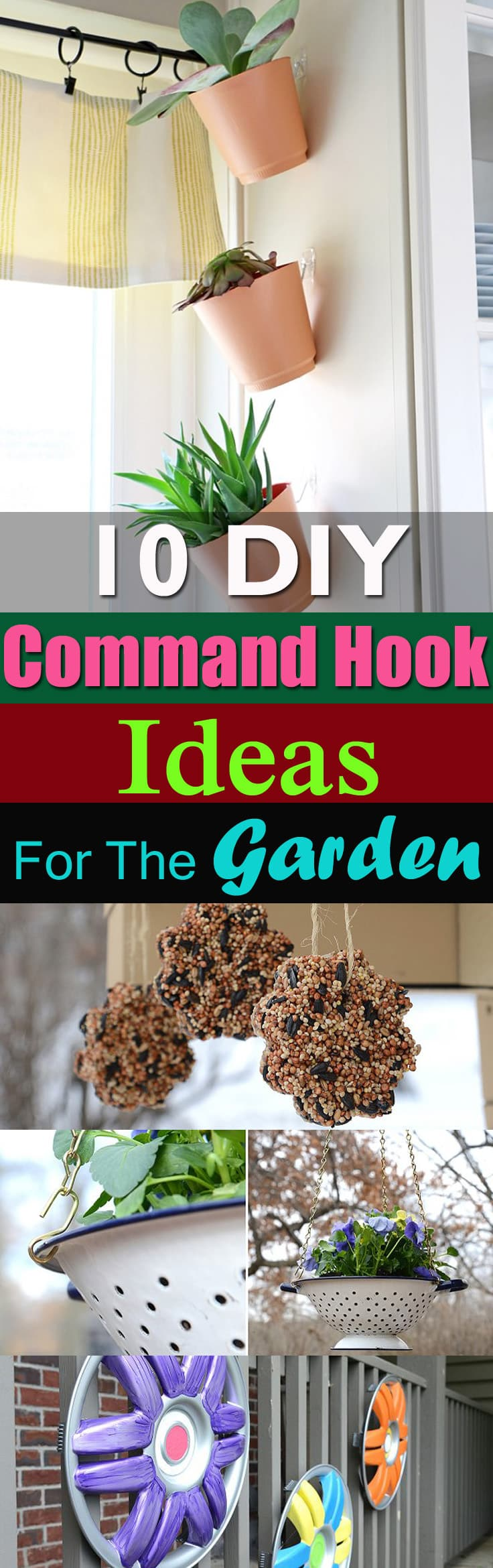 Instead of using hammers and nails, use command hooks to complete these projects. Check out these DIY Command Hook Ideas!