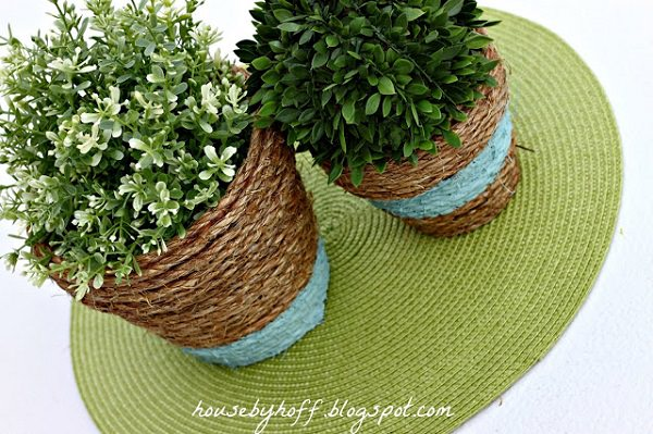 Rope Wrapped Planter